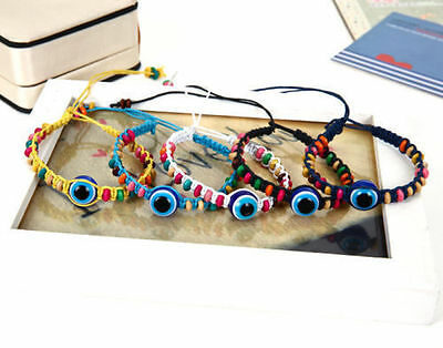 Fashion Hand-woven Blue eyes Evil eye ward off bad luck Friendship bracelet Hot