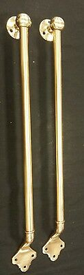 Pair beautiful  Large Antique Brass Bronze  Door Pull Handles 30 inches long (B)
