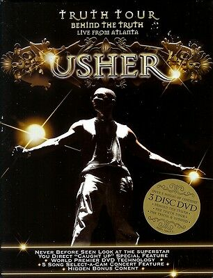Brand New Usher Limited Edition Behind The Truth Live From Atlanta  3 Dvd Set
