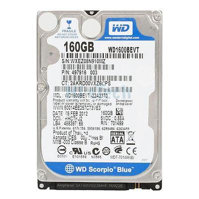 "New Cache 160GB 7200RPM 16MB 2.5"" SATA Hard Drive for PS3 Fat, Super Slim"