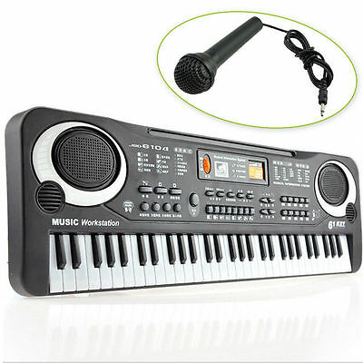 Children 61Keys Music Electronic Keyboard Electric Piano Organ Gift with Charger