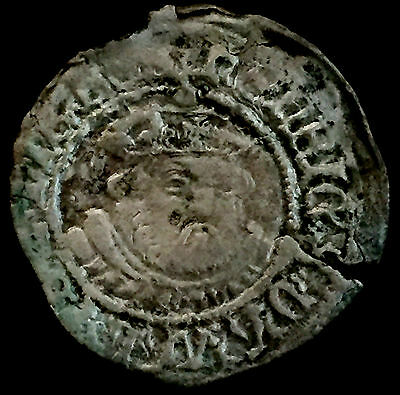 P736: Henry VIII Hammered Silver Half Groat - third issue, Canterbury mint