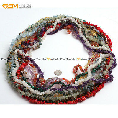 Natural Stone 5-8mm Freeform Gem Chips Beads For Jewelry Making, Free Shipping