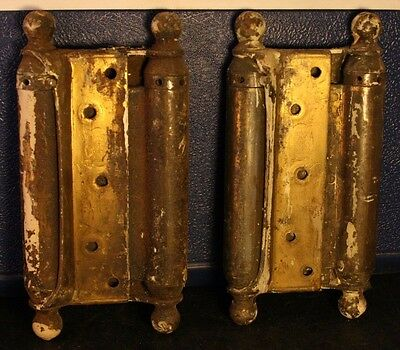 Antique Door Architectural Salvage Brass/Bronze Hinges? Patent 1903 Heavy-42T!