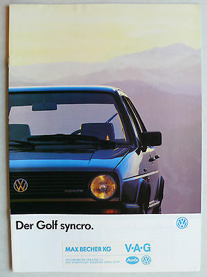 vw golf 2 ii syncro prospekt januar 1991 katalog brochure. Black Bedroom Furniture Sets. Home Design Ideas