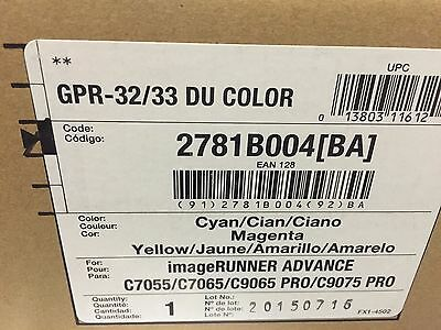 Canon GPR 32/33 COLOR Drum IRC 7055/9075 7260 9270 GENUINE CANON FACTORY SEALED
