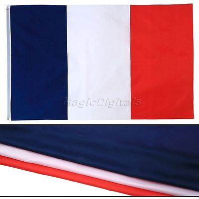 Large France French National Tricolour Flag Banner Outdoor Sport Decor 5 X 3FT