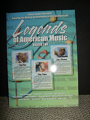 Legends Of American Music 15 Postcard Set, Vol. 2, Opened, Never Used