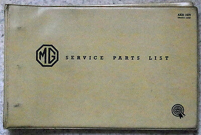 MG MIDGET Car Illustrated Service Parts List Catalogue Dec 1962 #AKD1879 2nd ED