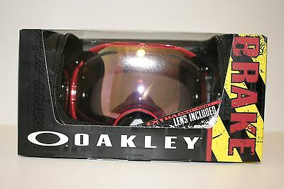 New Oakley AIRBRAKE SNOW Goggles  Red/VR50 Pink 59-124J Free Shipping