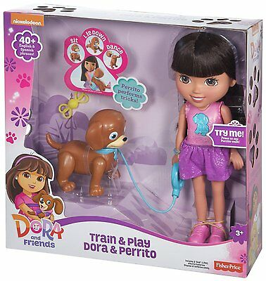 Dora and Friends - Train And Play Dora And Perrito *BRAND NEW*