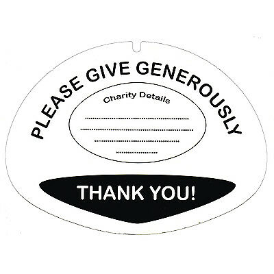 10 Labels for Charity Money Donation Collection Buckets - Fundraising