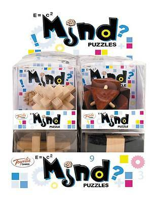 Wooden Mind Puzzle (One of 12 Assorted Designs) - Brand New Brain Teaser