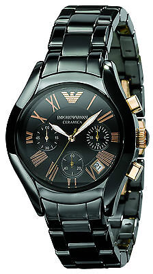 Emporio Armani® watch AR1411 Ladie`s Black Ceramica