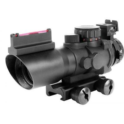 Aim Sports RECON 4X32mm Scope with Fiber Optic BUIS & Rapid Ranging Reticle