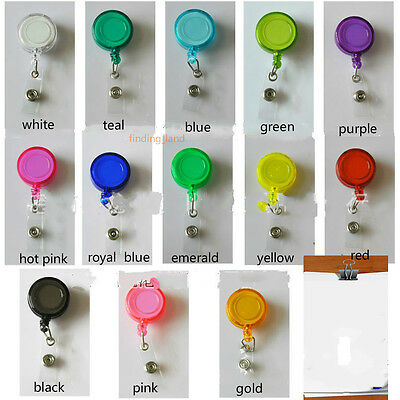 3x Badge Reel Retractable Recoil YOYO SKI PASS ID Card Holder Key Chain 13 color
