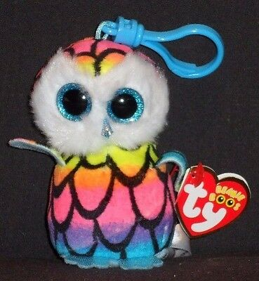 TY BEANIE BOOS - ARIA the OWL KEY CLIP - CLAIRE'S EXCLUSIVE - MINT w/ MINT TAG