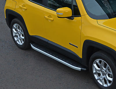 To Fit Jeep Renegade 2015+: Aluminium Side Steps Running Boards Side Bars