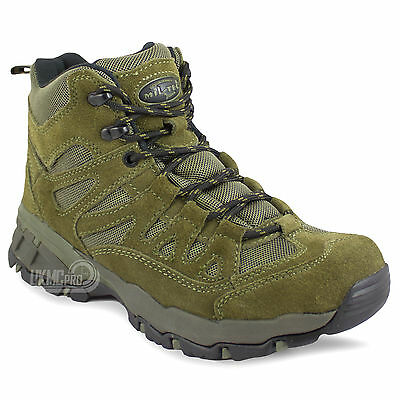 Men's Army Military Tactical Combat Hiking Hunting Short Ankle Boots Shoes Green