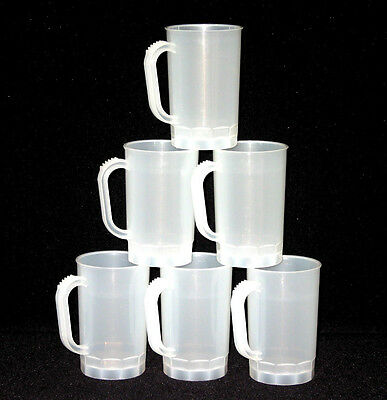 Beer Mugs, Pack 10, Color Frosted, Mfg USA, Dishwasher Safe, Lead Free No BPA