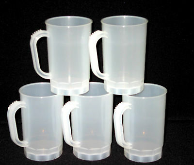 40 Beer Mugs, Size 1 Pint, Color-Frosted, Made in America, Lead Free, No BPA