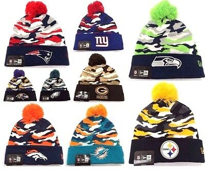 4d98c5f3 NEW ERA NFL Camo Army Captive Skully Winter Beanie Knit Cuffed Authentic  Hat Cap