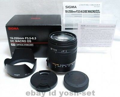 SIGMA lens 18-250mm F3.5-6.3 DC MACRO HSM Pentax for APS-C only 883614