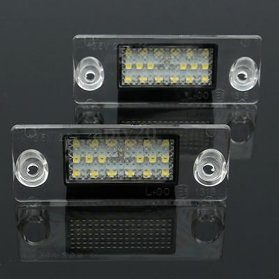 2x Error Free 18 LED License Number Plate Lights For Audi A4 S4 B5 98-01 White
