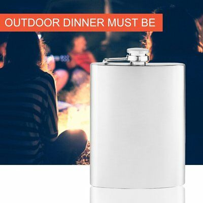 New Portable 200ml 8oz Stainless Steel Hip Flask Alcohol Drinking Wine Bottle GT