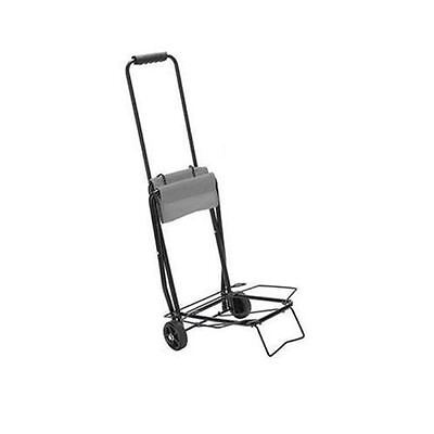 Shopping and Heavy Boxes Grey 10020046 Relaxdays Foldable Folding Sack Truck Durable Trolley Holds up to 60 kg Transport Dolly Cart 96 x 38 x 37 cm Rolling Hand Truck with Extendable Handle for Unloading