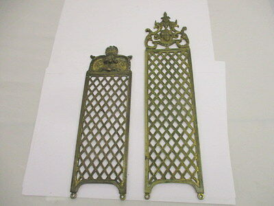Antique Victorian Brass Finger Plate Push Door Handle COPE 1897 Face Shell Gilt