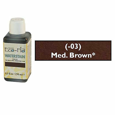 Eco-Flo Professional Waterstain Medium Brown 250 ml (8.5 fl oz.) Blended Waxes