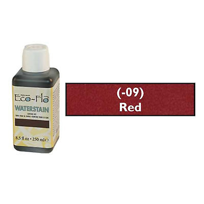 Eco Flo Professional Waterstain Red 250 ml (8.5 fl oz.) 2800-09 Tandy Dyes