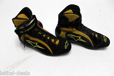 ALPINESTARS F1-R Racing SHOES Mens High Top Yellow Black ISO FIA Race Boots NEW