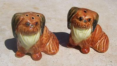 Australian Pottery Darbyshire Pekingese Dog Salt & Pepper Shakers