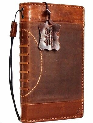 Genuine vintage leather Case fit apple iphone 6s plus credit cards wallet cover