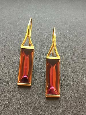 Baccarat Insomnight 18ct Gold Crystal Earrings 2604177