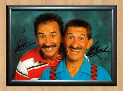 CHUCKLE BROTHERS Hounds Vision Maths Signed Autographed A4 Print Photo dvd tv