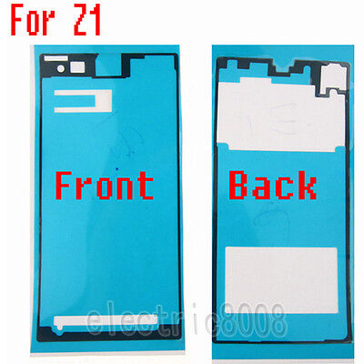 For Sony Xperia Z  Z1 L39h C6903   Front & Back Adhesive Sticker Tape Glue