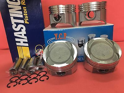 YCP 75.5mm Vitara Pistons Teflon Coated Low Comp+Rings Honda Crx Civic D16 Turbo