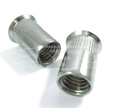 M4 M5 M6 M8 & M10 A2 Stainless Steel Countersunk Knurled Blind Rivet Riv Nuts