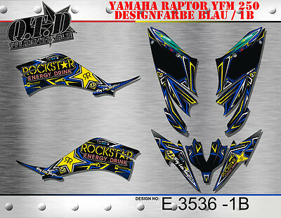 Motostyle-Mx Dekor Kit Atv Yamaha Raptor Yfm 250 Graphic Kit E3536 B