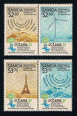 Samoa Oceania 2015 Stamp Issue Set of Two Attached Pairs