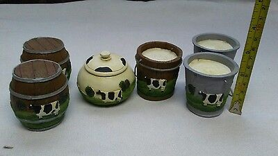 Cow Decor. lot of 6