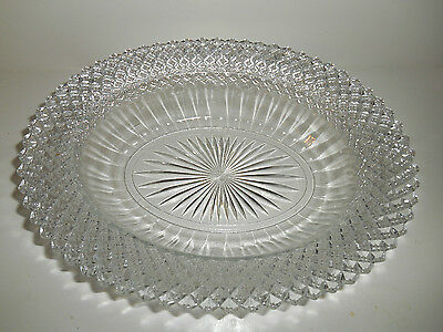 """Pretty Crystal Miss America 10"""" Oval Vegetable Bowl by Anchor Hocking"""