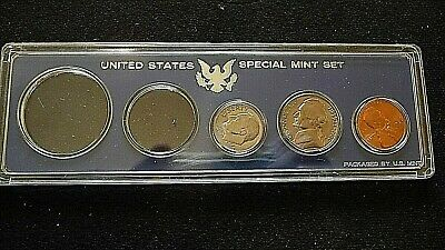 1966-P Lincoln Penny-Nickel-Dime In Bu In Ss Mint Holder L-21-15