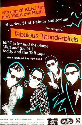 Fabulous Thunderbirds New Years Show 1987 ORIGINAL poster by  JAGMO SILKSCREENED