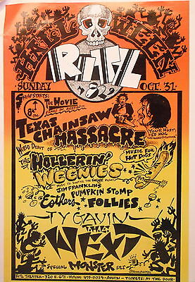 PSYCHEDELIC Halloween at the Ritz Poster- 1982 - by Kerry Awn - ORIGINAL