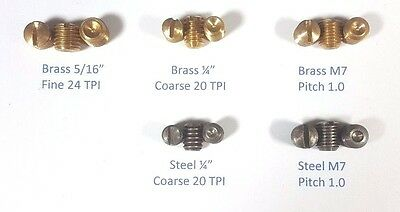 "Sample Pack Set Screws Brass Steel 5/16"", 1/4"", M7 Door Knob Antique Doorknob"