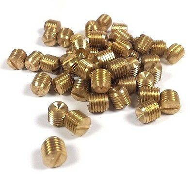 "~~~ 12 New Brass Set Screws 5/16"" Fine Thread 24 Door Knob HTF Antique Doorknob"